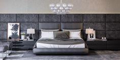 Poliform Bedroom on Behance Modern Master Bedroom, Modern Bedroom Design, Contemporary Bedroom, Modern Interior, Master Bedrooms, Bedroom Designs, Bedside Table Design, Home Decor Bedroom, Bedroom Ideas