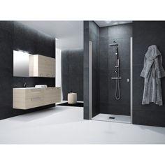Porte de douche pivotante 90 cm, transparent, Neo