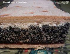 Makový koláč s tvarohom (fotorecept) - Recept