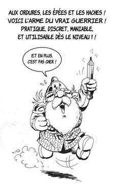 PAR LES ENCLUMES DE THRODD! On va pas se laisser gâcher les soldes chez Durandil par des putains de trolls! Et c'est pas parce qu'ils sont assommants qu'ils vont semer le K.O! Hommage de Marion Poinsot, qui met en images l'univers du Donjon de Naheulbeuk de PoC, à la rédac' de Charlie Hebdo. https://www.facebook.com/poinsot.marion