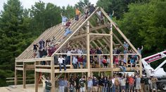 """Benson and Burn describe the thrilling ceremony of raising the barn's structure, bringing together Burns' friends, family and local community members. Benson paints a vivid picture of the ancient ceremonial nature, and Burns notes the special day reminded him of a bigger idea: """"We are not alone, we require a community."""""""