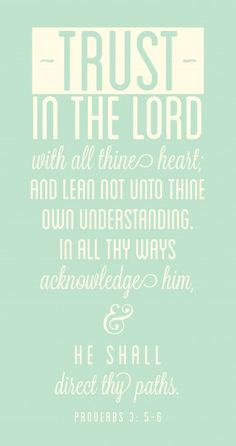 Proverbs 3:5-6  My favorite scripture.