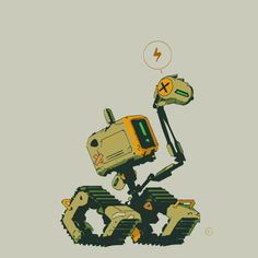 Little Robot (unknown source) Art Et Illustration, Illustrations, Character Concept, Character Art, Robot Cute, Arte Cyberpunk, Arte Robot, Robots Characters, Comic Manga