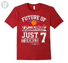 Mens Future Basketball Born In 2010 T-Shirt 7th Birthday Medium Cranberry - Birthday shirts (*Amazon Partner-Link)