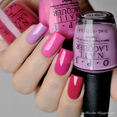 Simple But Artistic Nail Art Collections To Inspire You - Nail Polish Addicted Fancy Nails, Love Nails, Pink Nails, How To Do Nails, Pretty Nails, My Nails, Opi Pink, Chic Nails, Stylish Nails