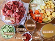 Slow Cooker Beef ; Potato Stew // ingredients# slow cooker healthy recipes