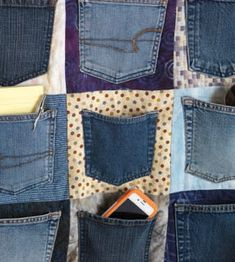 pretty neat idea to make upcycling old jeans.