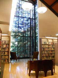 Mill Valley Public Library: inside connects to outside, materials