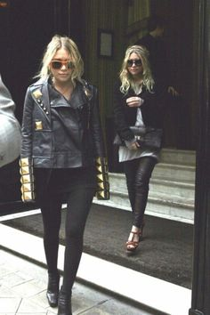 An iconic Olsen shot. That Givenchy jacket! Still so good.