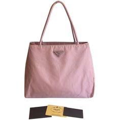 Pre-owned Prada Nylon (#017) Pink Tote Bag (705 BRL) ❤ liked on Polyvore featuring bags, handbags, tote bags, pink, prada satchel, evening purse, prada tote, pink tote bag e pink satchel