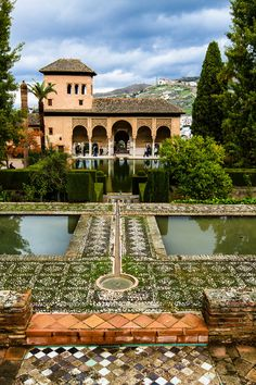 ** Alhambra Palace, a palace and fortress complex located in Granada, Andalusia, Spain. It was originally constructed as a fortress in 889 and later converted into a royal palace in 1333 by Yusuf I, Sultan of Granada. Places Around The World, Oh The Places You'll Go, Travel Around The World, Places To Travel, Around The Worlds, Wonderful Places, Great Places, Beautiful Places, Malaga