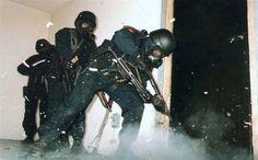 22 SAS training in the 'kill house.'