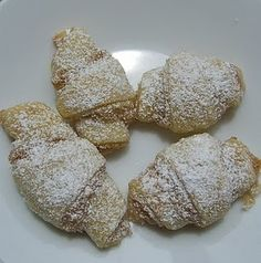 Butter Horns- cinnamon and sugar filled cookies. I may take an afternoon and make some!