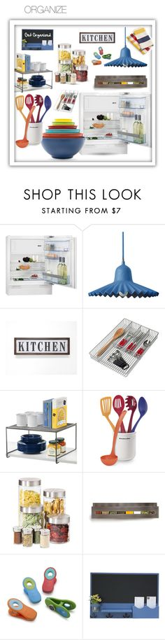 """""""Kitchen: Get Organized!"""" by queenofsienna ❤ liked on Polyvore featuring interior, interiors, interior design, home, home decor, interior decorating, Seletti, Spectrum, Lynk and KitchenAid"""