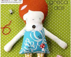Patrón de muñeca patrón patrón de costura PDF Doll por retromama