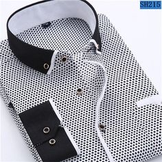 2018 Men Casual Long Sleeved Printed Shirt Slim Fit Male Social Business Dress Shirt Men Clothing Soft Comfortable Asian X Business Shirts, Business Dresses, Social Business, Business Casual, Business Fashion, Business Meeting, Mens Wedding Shirts, Wedding Men, Chemise Slim Fit