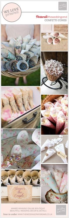 Paper Confetti Cone Ideas For Weddings
