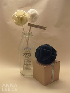 Did you know the traditional gift for Anniversary #4 are flowers/fruit ... this could be a great DIY gift! felt pom poms