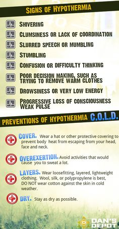 Signs an preventive measures for hypothermia...
