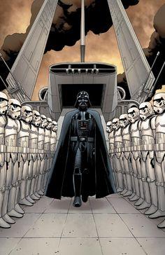 Star Wars Darth Vader by John Cassaday - Star Wars Stormtroopers - Ideas of Star Wars Stormtroopers - Star Wars Darth Vader by John Cassaday Star Wars Holonet, Star Wars Comics, Star Wars Fan Art, Star Wars Darth, Marvel Comics, Anakin Vader, Darth Vader, Anakin Skywalker, Walt Disney Pictures
