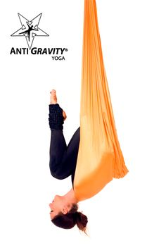 Anti Gravity Yoga - Looking ready for a flying shoulder stand in Bat Pose...it's all about the progression! www.floatfitness.co.nz #antigravitynz