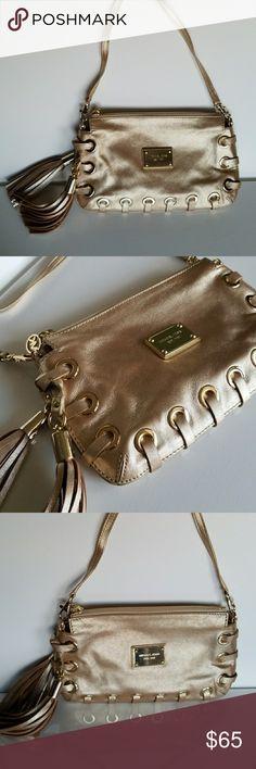 9e5feed885bc ... best michael kors gold hand bag clutch womens girls 5407a 6f229