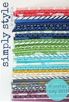 Oooooh…love. Vanessa Christenson's second line with Moda Fabrics. In stores July 2013. Drool. #fabric #sewing #quilting