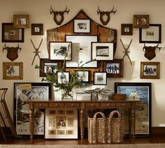 See my Pottery Barn wall hanging hack and be inspired like I was. Get some tips for getting that Pottery Barn style in your home! Decor, Driven By Decor, Wall Decor, Entryway Inspiration, Wood Gallery Frames, Gallery Wall, Lodge Decor, Ski Lodge Decor, Faux Walls