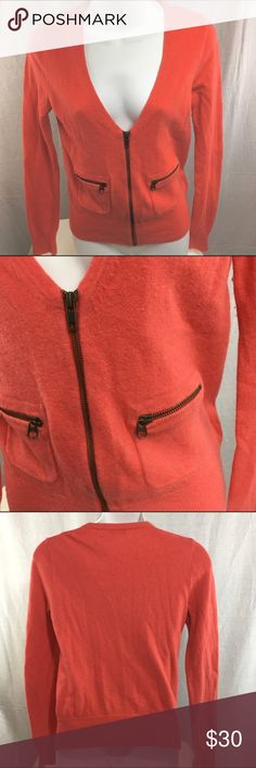 J. CREW - CASHMERE ZIP CARDIGAN - Small This zip up cardigan is in fairly good condition. It has been very gently loved. J. Crew Sweaters Cardigans