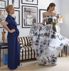 Carolina Herrera: The Grand Dame Of Fashion Fashion 101, Party Fashion, Beautiful Gowns, Beautiful Outfits, Top Mode, Ch Carolina Herrera, Lesage, Elsa Peretti, Karl Lagerfeld