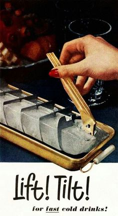 "Ah I remember this! Sometimes we would freeze Koolaid in them with a toothpick in every square for ""Popsicles"""