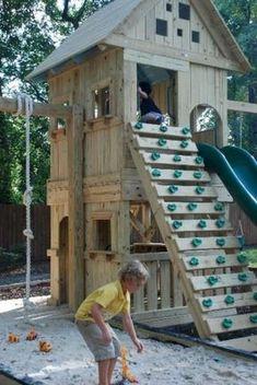 Fun backyard playground for kids ideas (6)