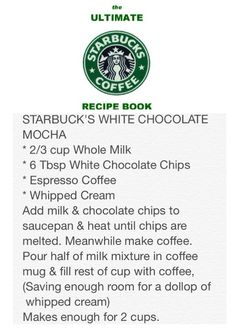 The Ultimate Starbucks Coffee Recipe Book