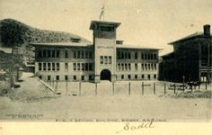 This is a postcard of Central School in Bisbee, Arizona.  This is merely one of…