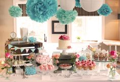 Vintage Sweet Table in Aqua & Rosé
