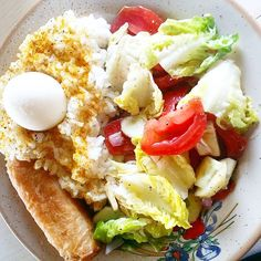 « Daddy made dinner~ #cute #daddy #dinner #salad #Instafood #instasize #daily ##nem #rice #egg #whatacombination #tasty »