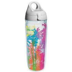 Sun and Surf Palm Tree Water Bottle
