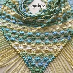 Photo from album Baby Knitting Patterns, Knitting Stitches, Embroidery Stitches, Crochet Scarves, Crochet Shawl, Free Crochet, Angora, Crochet Videos, Shawl
