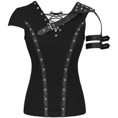 PUNK RAVE AXIOM TOP ❤ liked on Polyvore featuring tops, shirts, punk shirts, shirt tops, punk tops and punk rock shirts