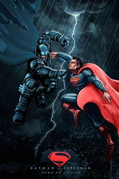Batman v Superman: Dawn of Justice by Nico Bascunan - Home of the Alternative Movie Poster -AMP- Superman Artwork, Superman Wallpaper, Batman Vs Superman, Batman Art, Movie Synopsis, Dc World, Arte Dc Comics, Dc Comic Books, Alternative Movie Posters