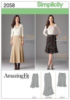 Best deal on Simplicity Amazing Fit Pattern 2058 Women's Skirt in 2 Lengths with Individual Pattern Pieces Sizes 20W-28W discover this and many other bargains in Crazy by Deals, we bring daily the best discounts for you