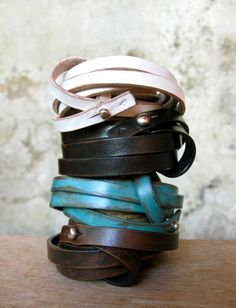 Stacked love knot wrap bracelets from Anna Sukardi