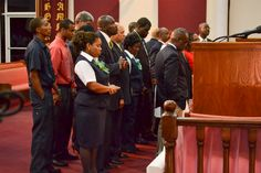 Sky Bahamas' CEO and representative was in the house of the Lord this past Sunday. Bishop prayed over them and the company.