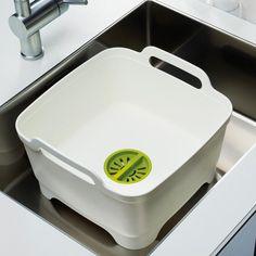 Joseph Joseph Wash&Drain™ | Dishwashing bowl with straining plug
