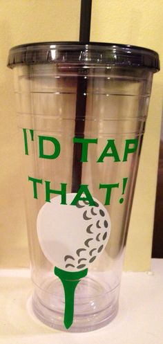 Golf Tumbler on Etsy, $15.00