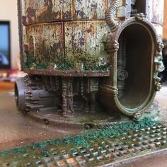 Bringing in the iron works Warhammer Terrain, 40k Terrain, Wargaming Terrain, Warhammer 40k, Tabletop, Minis, Foam Factory, Hirst Arts, 28mm Miniatures