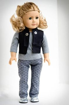 American Girl Classic Fall Vest Shirt and Jeans by AnnasGirls, $32.00