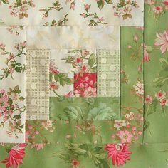 Robyn Pandolph 12 Block Log Cabin Pre Cut Quilt Kit 29x39 Incarnadine Blossom | eBay
