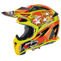 2013 Airoh Aviator 222 Cairoli Replica Fluorescent - 2013 Airoh Motocross Helmet 2013 Airoh Aviator Motocross Helmet 222 Cairoli Replica available in the latest Orange & Yellow Fluorescent design The Airoh Aviator is A BRAND NEW Carbon Kevlar helmet from the masters of light-weight helmet manufacturing. Featuring a revolutionary new ventilation system. As worn by Antonio Cairoli!