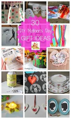30 diy mother's day gift ideas.  Fab kid made DIY gifts perfect for Mother's Day, birthdays of Christmas.  Frugal, fab and achievable by children